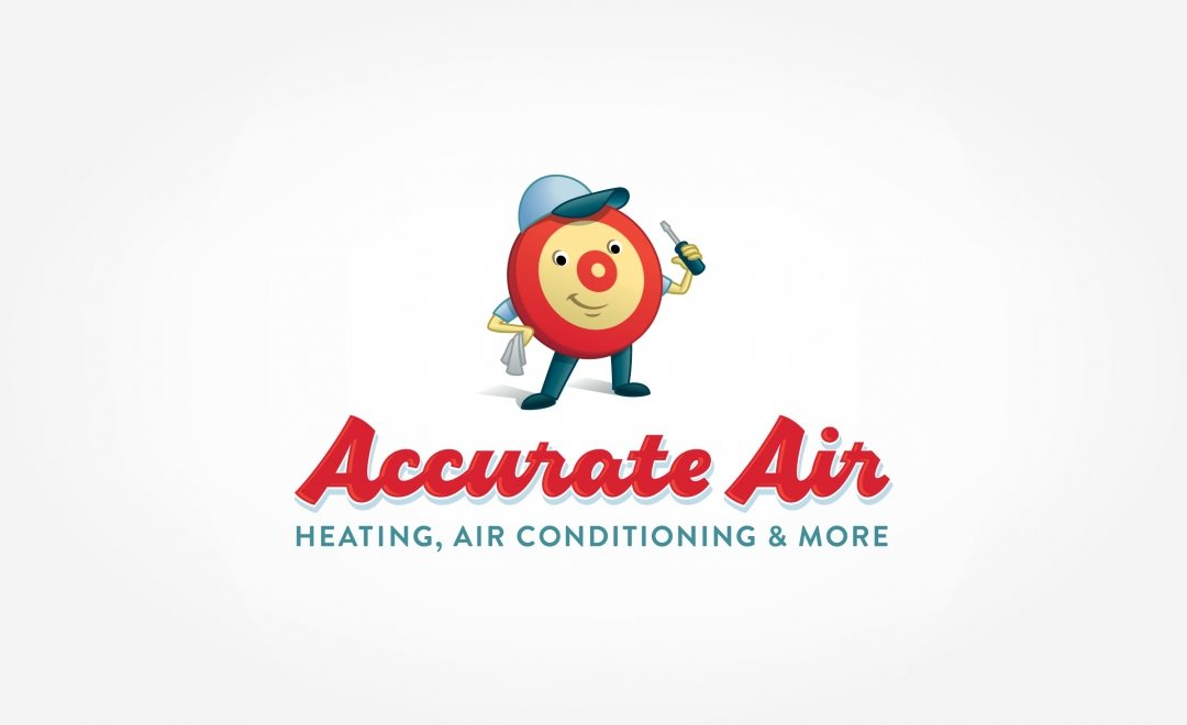 Retro themed HVAC branding using a mascot for this HVAC company in Maryland.