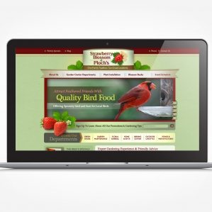 Web design for a garden center in Wayne, NJ.