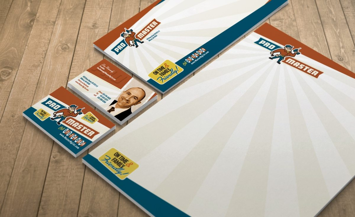 Stationery design, direct mail postcard design and printing