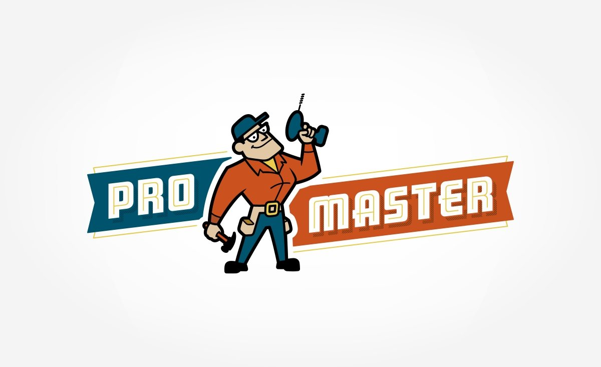 Retro themed logo for a handyman and home repair business in Cincinnati, Ohio.
