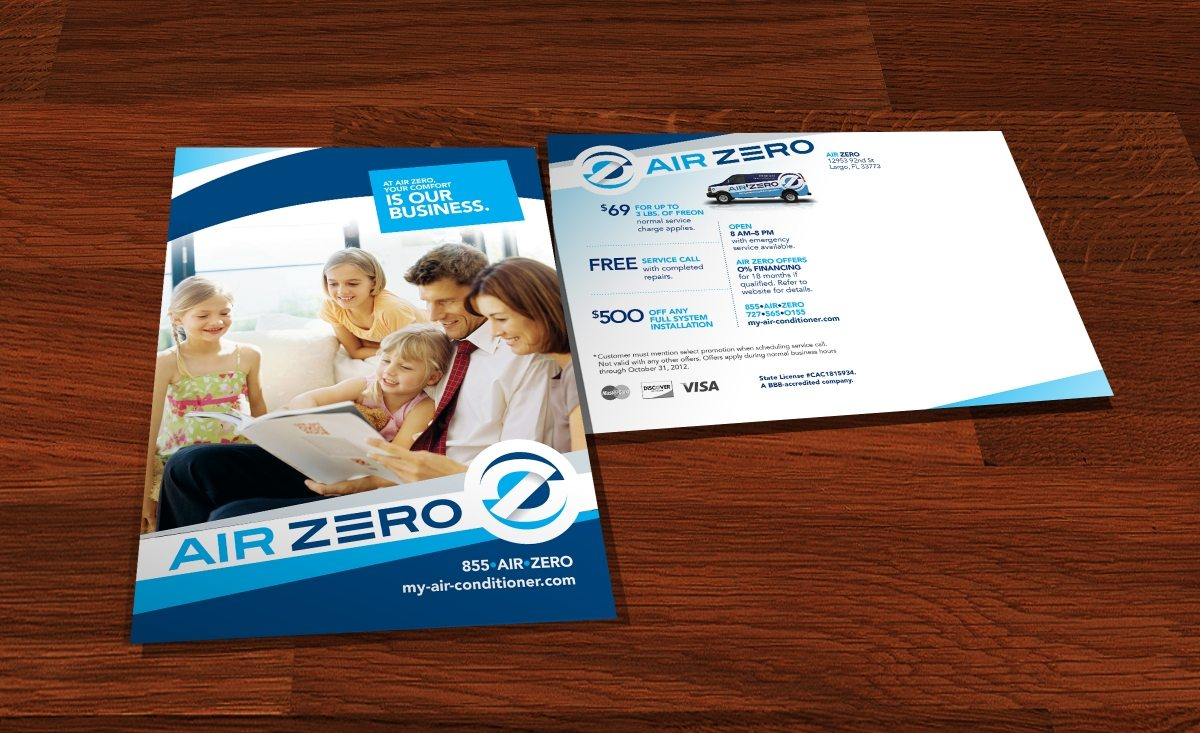 Direct mail postcard copywriting, design and printing