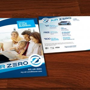 Direct mail postcard copywriting, design and printing