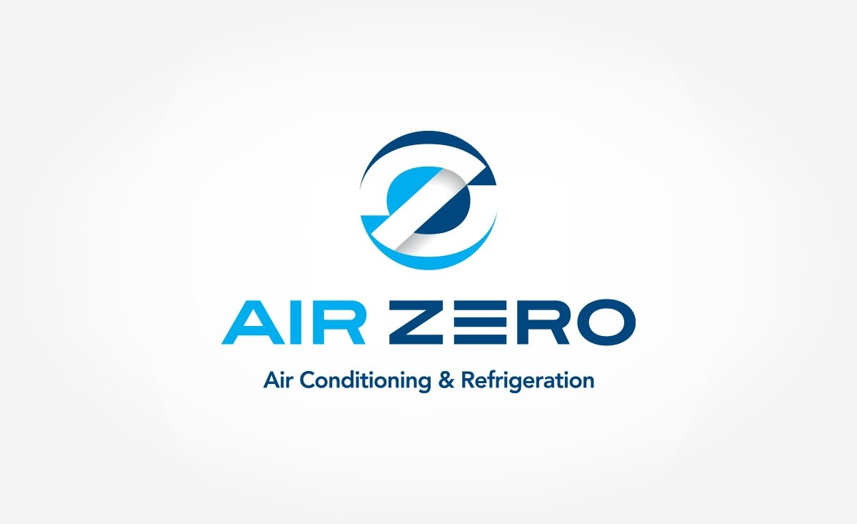 Logo design air zero air conditioning refrigeration Branding and logo design companies