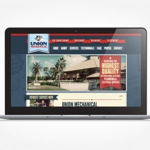 Web design for a HVAC company in Florida.