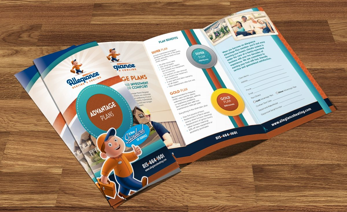 Annual Service Agreement brochure design, layout and copywriting