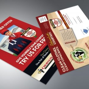 Direct mail design, printing and mailing