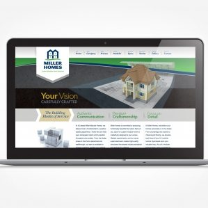 Web design for a modular home building site in NJ.