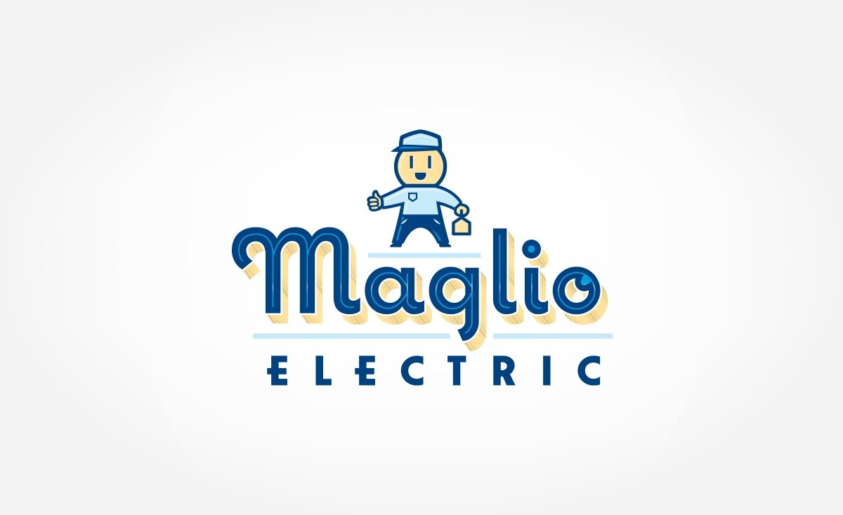 This was a fun retro logo design for an electrician in Clinton, NJ. Notice the outlet in his face?
