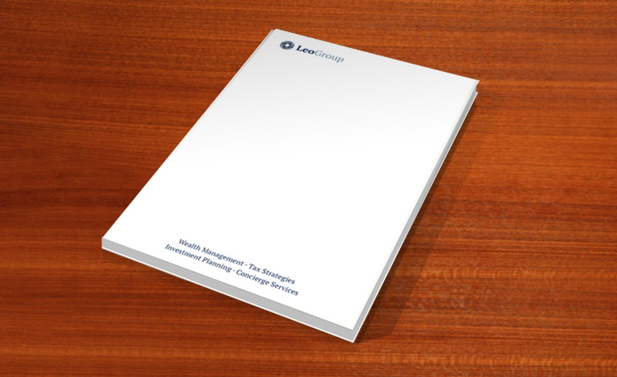 Notepad design and printing