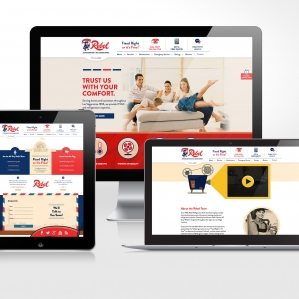 Website design for Rebel Refrigeration & Air Conditioning, a heating and air conditioning compnay in Las Vegas, NV.