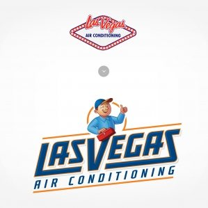 Before & after logo re-design for Las Vegas Air Conditioning
