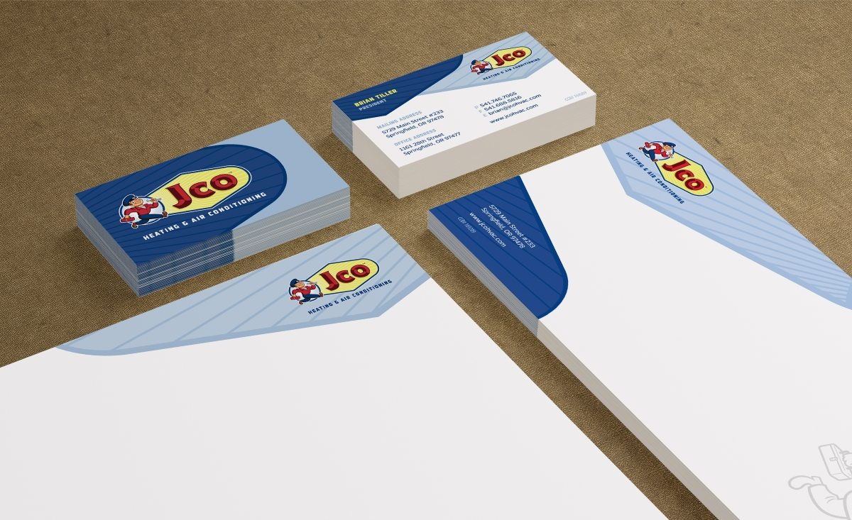 Stationery design for a HVAC company in Oregon.