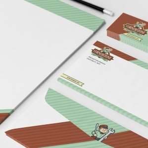 Stationery design for an HVAC and plumbing company in Florida.