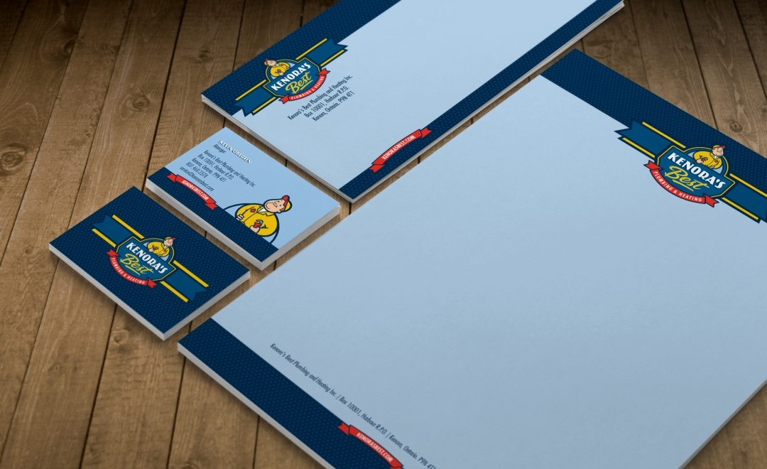 Stationery design for a HVAC company in Ontario, Canada.