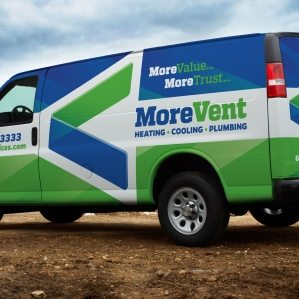 Logo design, fleet branding, and tagline development for a new heating and air condition company in Pennsylvania.