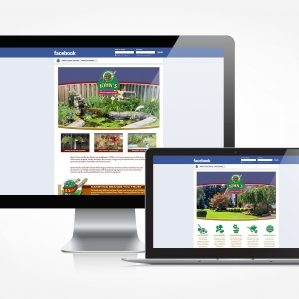 Facebook design and management for a landscaping company located in Rockaway, NJ.