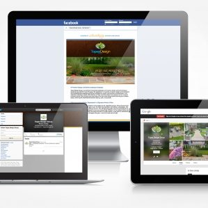 Social media design for a landscaping company located in NY.