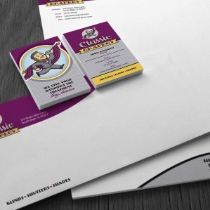 Stationery design example for a client with a drapery business in Chicago which utilizes custom illustration and hand drawn typography.