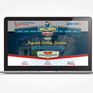 Web design for a HVAC contractor located in Albuquerque, NM.
