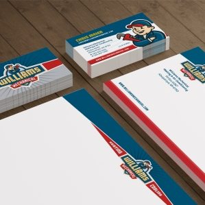 Stationery design for HVAC contractor located in Albuquerque, NM.