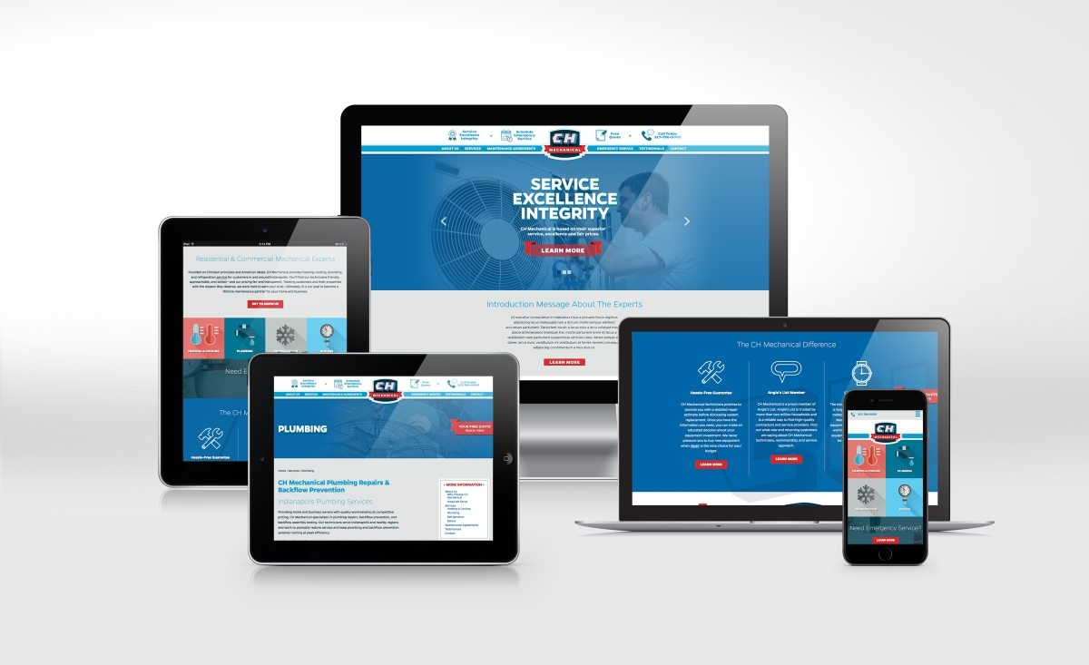 Website design and development for this contractor located in Indianapolis, IN.