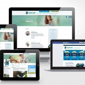 Clear the Air Cooling & Heating Blog, Facebook & Twitter design.