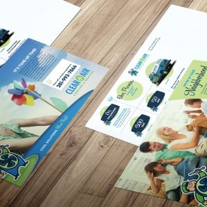 Postcard designs for Clear the Air Cooling & Heating HVAC company in Friendswood, TX.