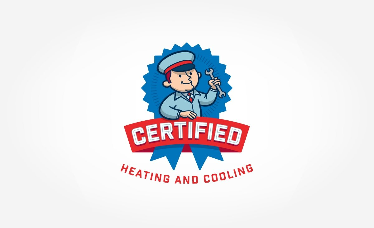Logo design for a heating & cooling contractor located in Florida.