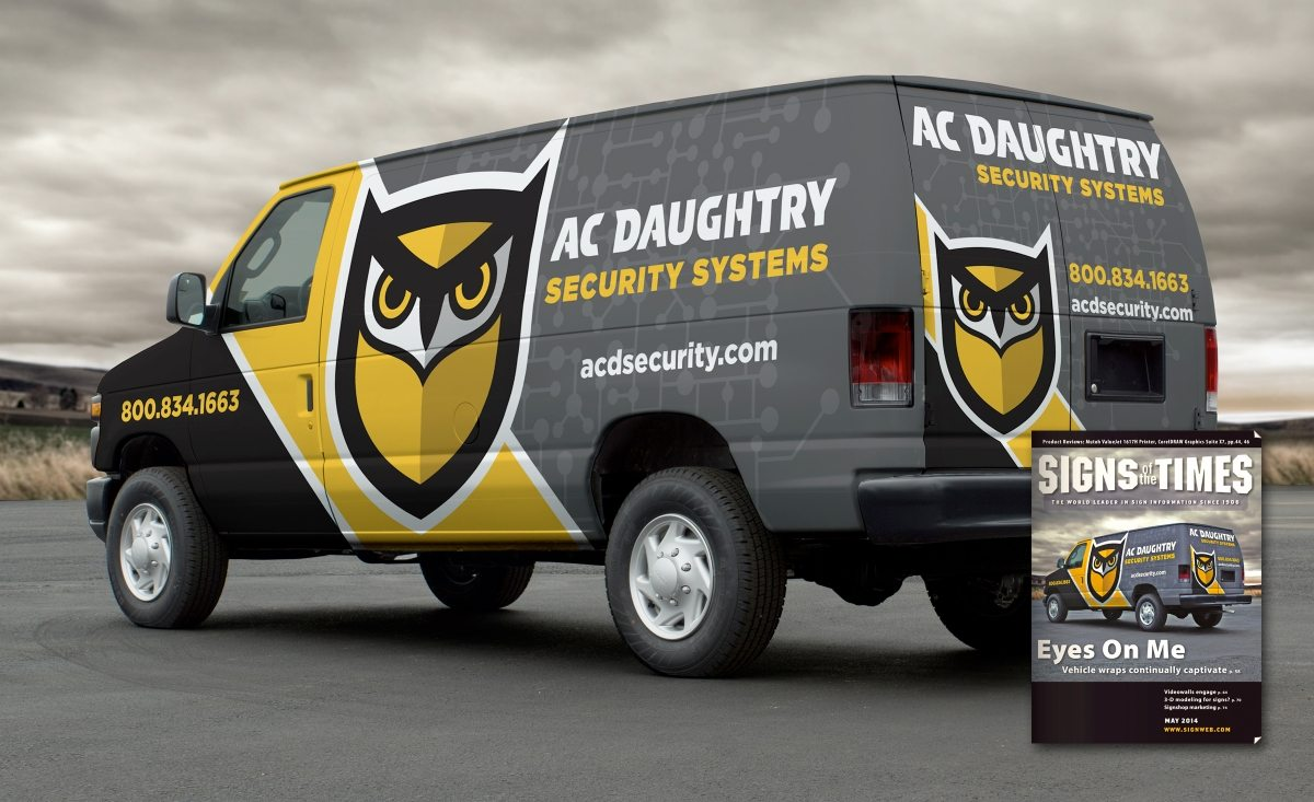 best security company wrap design, best truck wraps, award winning truck wrap