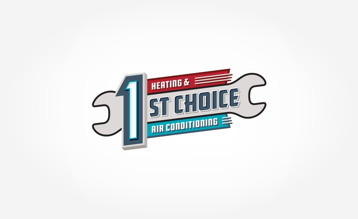 Retro logo for a heating and air conditioning company in Howell, NJ.