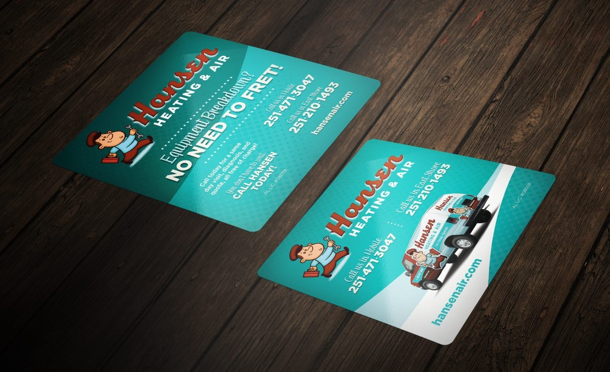 Sticker design for Hansen Heating & Air, a HVAC company in Alabama.