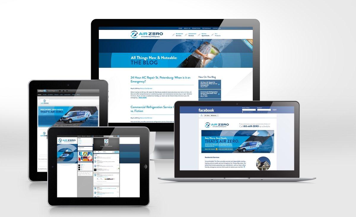 Social media design for Air Zero, HVAC company in Florida.