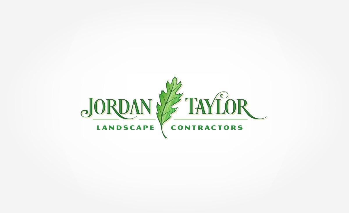 Logo design for Jordan Taylor Landscape Contractors landscaping contractor in Leht, New Jersey.