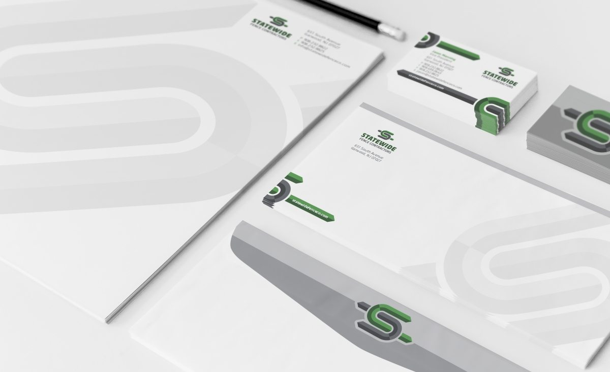 Stationery design for a fencing contractor located in Garwood, NJ.