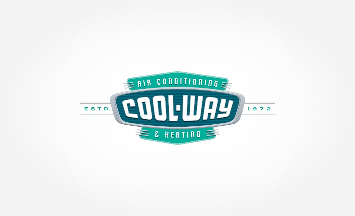 Retro logo design for Cool-Way Heating & Air Conditioning, HVAC contractor in Florida.