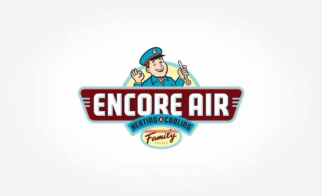 Logo design for Encore Air Heating & Cooling, an hvac company based in Largo, FL.
