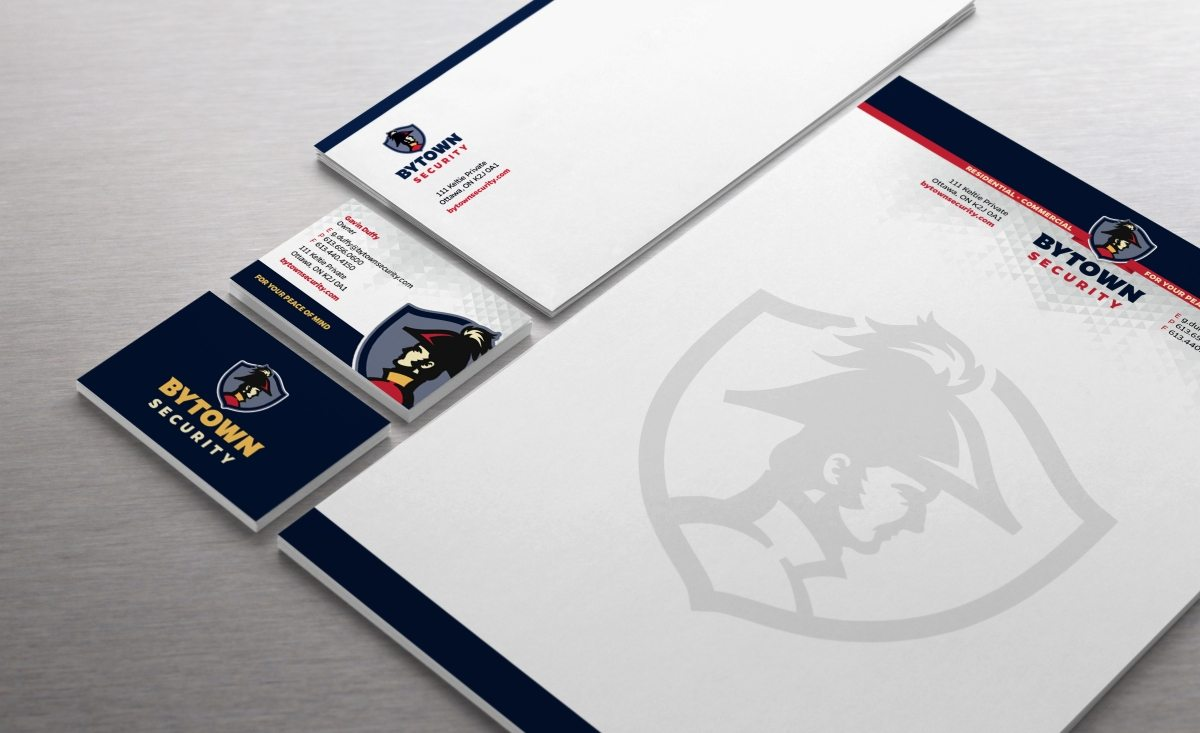 Stationery design for a security firm in Canada.