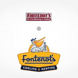 Before & after logo design for Fontenot's Air Conditioning & Heating.
