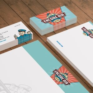 Stationery design for Encore Air Heating & Cooling, an hvac company based in Largo, FL.