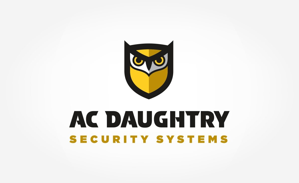 Logo design for A.C. Daughtry Security Systems, a security company providing integrated home and business security solutions throughout New Jersey.