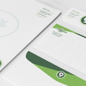 Stationery design for Whole 9 Yards Lawn Care and Landscaping serving Flemington, New Jersey.
