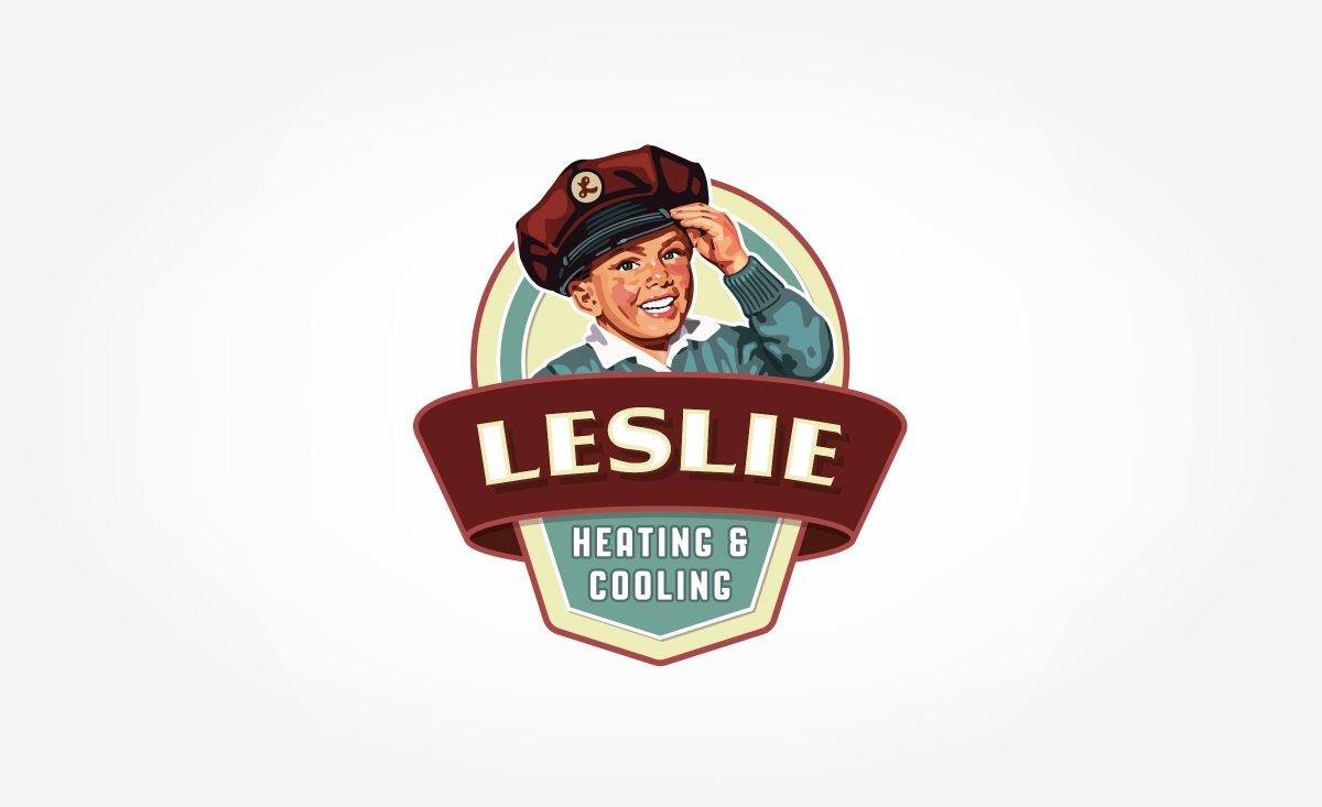 Retro logo design for a heating & cooling company based in Illinois.