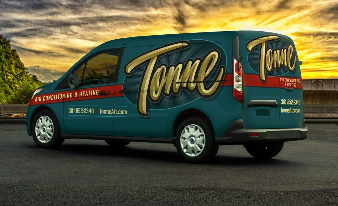 best truck wraps, award winning truck wraps, hvac truck wraps, heating and cooling truck wrap.
