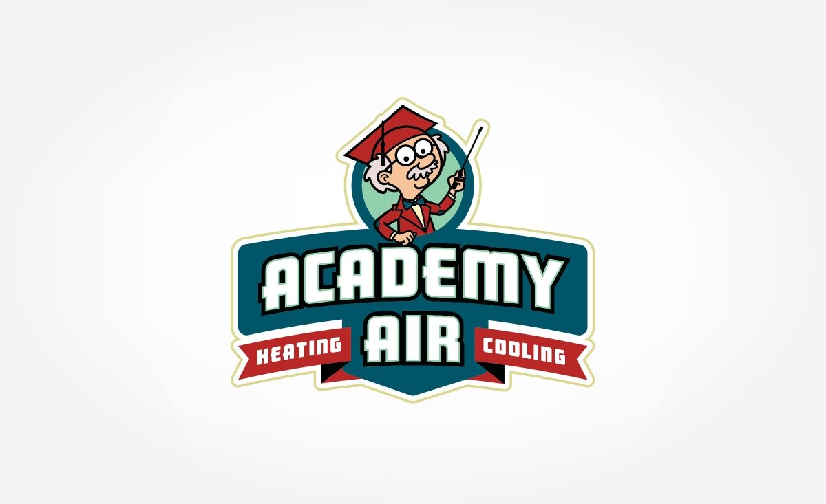 Retro logo for a heating and cooling company located in Missouri.