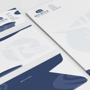 Stationery design for a landscape and outdoor living company in Paris, TX.