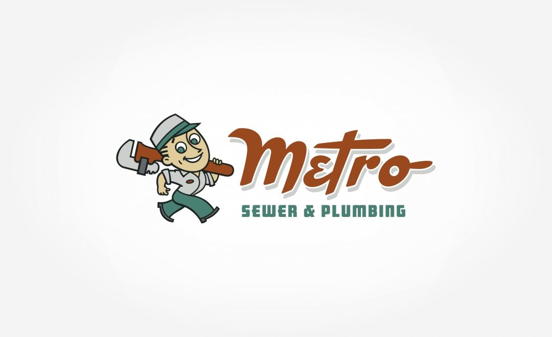 This retro mascot and logo for a sewer & plumbing company in Chattanooga, TN capture's the company's spirit.