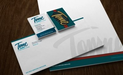 Stationery for a HVAC contractor in Corpus Christi, TX