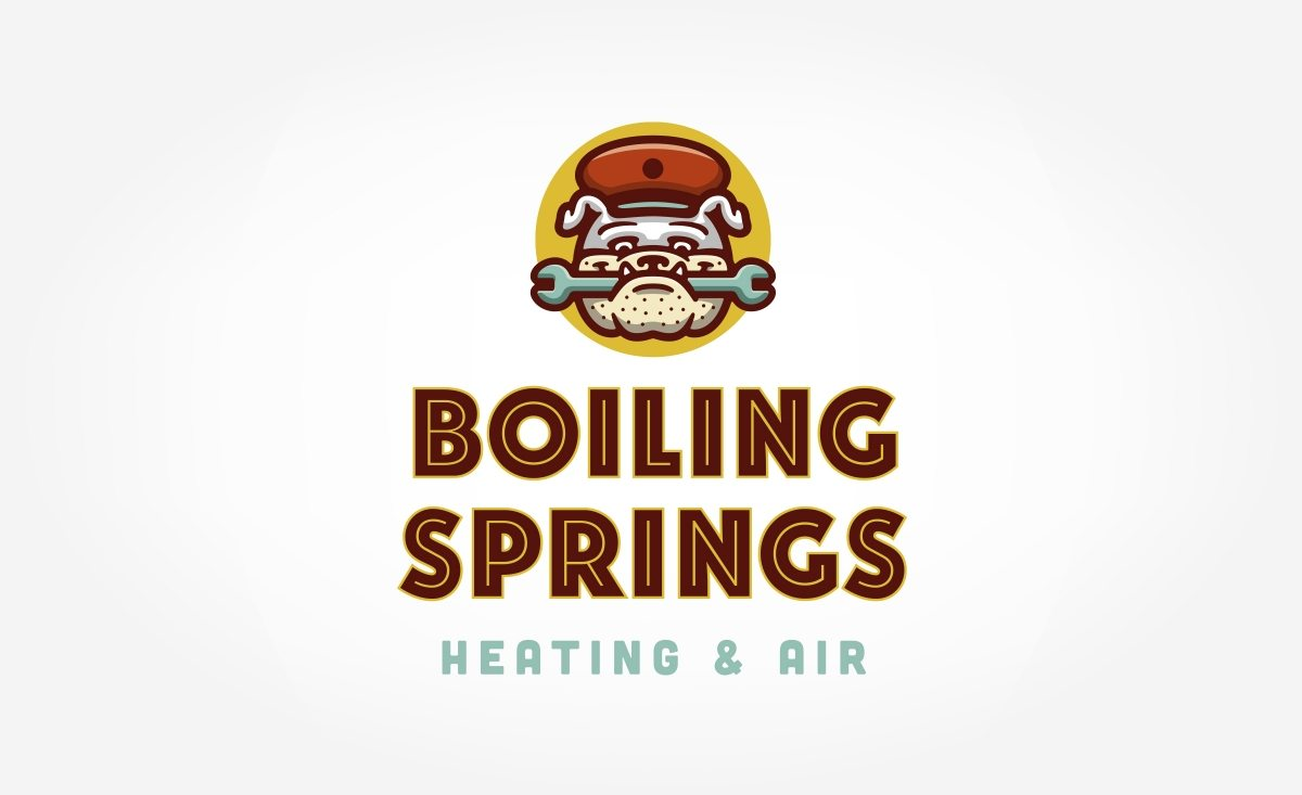HVAC Logo design and branding for this mechanical contractor in Boiling Springs, SC.