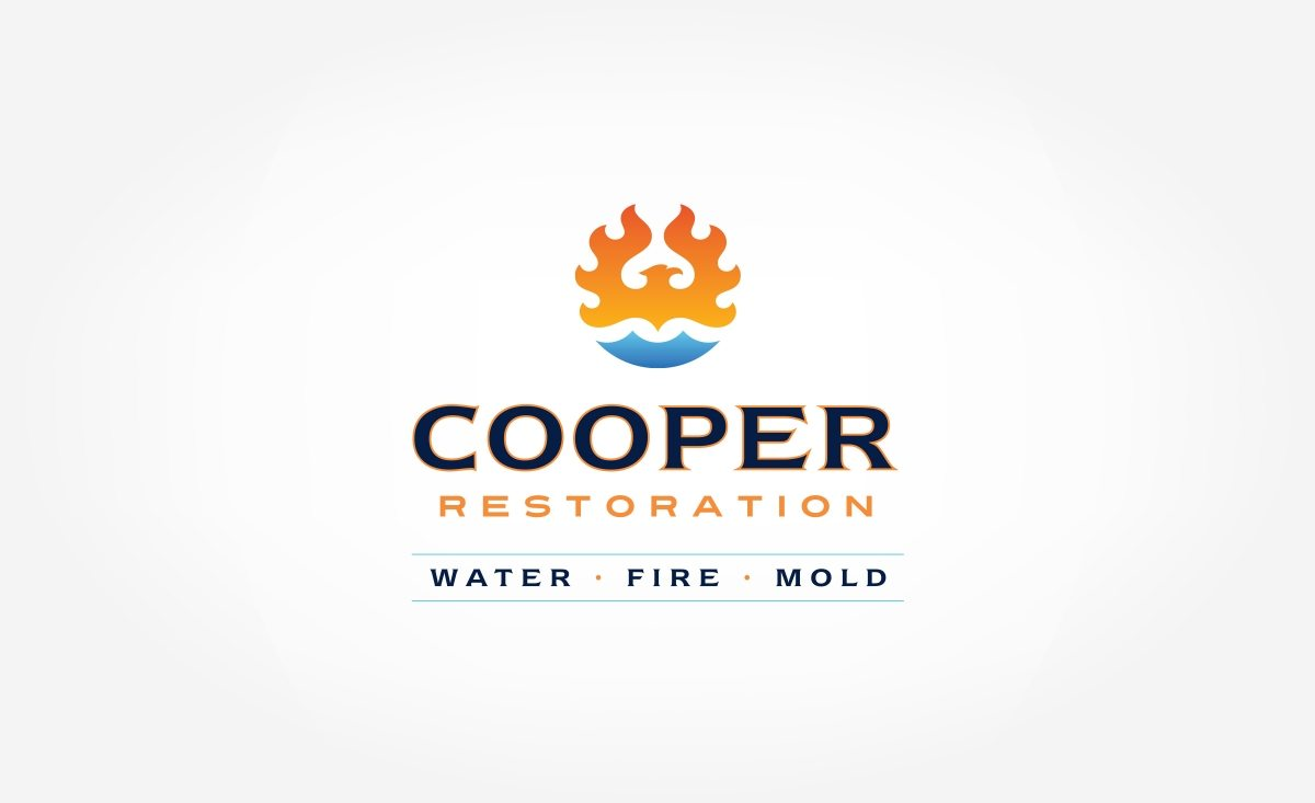 Cooper Restoration logo design for a company providing remodeling and repair services in Shreve, Ohio.