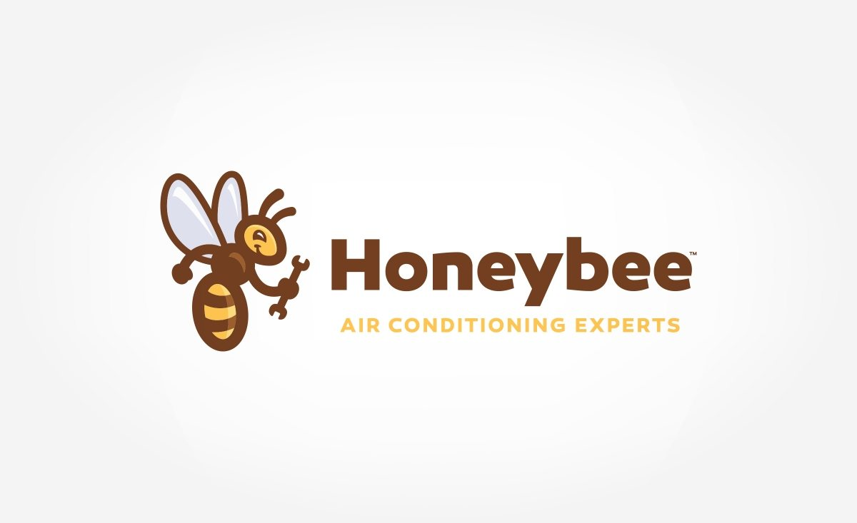 Logo design for Honeybee Air Conditioning Experts, a Heating and Air Conditioning service company in Las Vegas, Nevada.